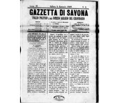 La Gazzetta di Savona 1868